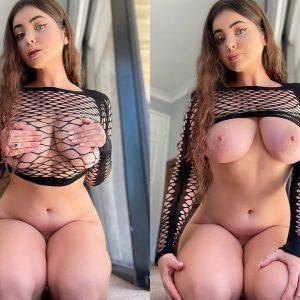 big tits in fishnets